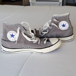 Gray high top converse!